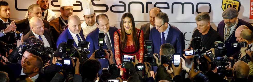 Elisabetta Gregoracci a Casa Sanremo